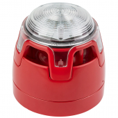 ENscape conventional Sounder Beacon, Clear lens, red base